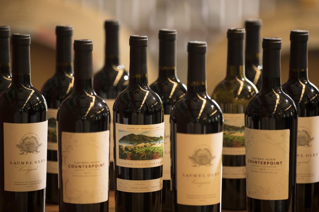 Laurel GLen Vineyard wine bottles