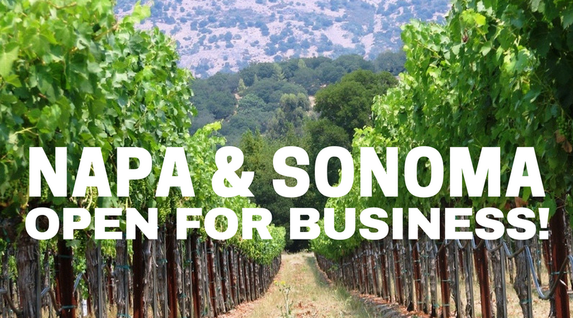 California Wine Country Open for Business