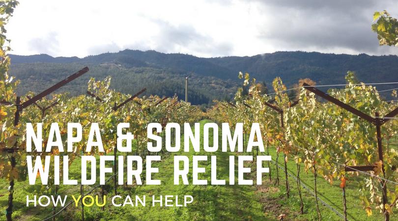 California wildfire relief support