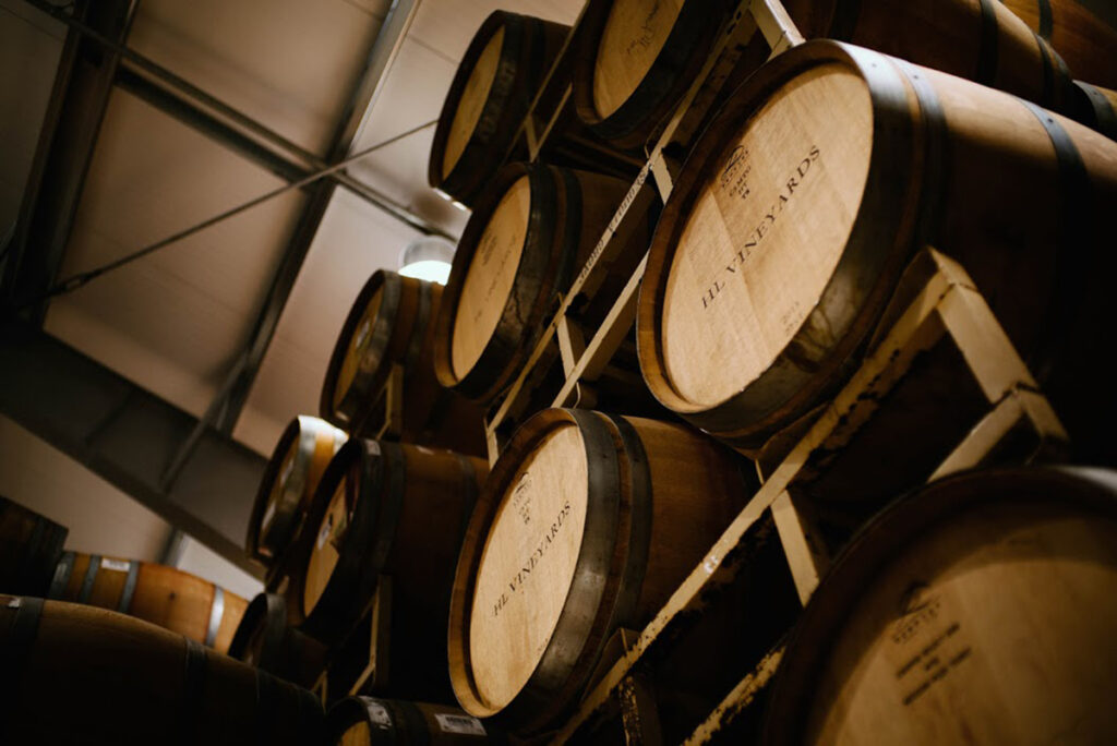 Herb Lamb Vineyard barrels