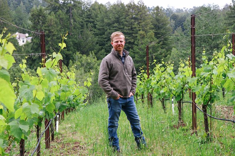 Winemaker Tanner Scheer Red Car Wine